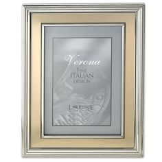 7ed58aa93265 Amazon.com - Lawrence Frames 8 by 10-Inch Silver Plated Metal Picture Frame