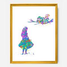 Alice in Wonderland Print  Nursery by IllustrationsThings on Etsy
