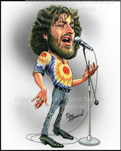 Joe Cocker Limited Edition Celebrity Caricature by Don Howard by DonHowardStudios on Etsy (Nhạc sĩ nhạc rock, blues và nhac soul người Anh)