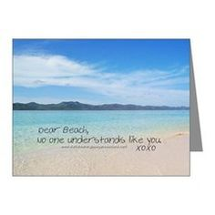 Love Notes To The Beach No One Note Cards