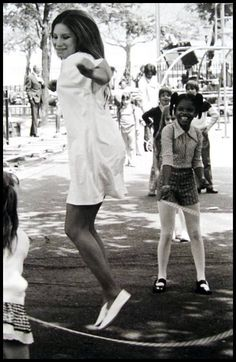 """Barbra Joan Streisand skipping rope during the film """"up the sandbox"""" I M The Greatest, Barbra Streisand, Classic Hollywood, Hollywood Star, Hello Gorgeous, Celebs, Celebrities, Girl Humor, Role Models"""