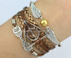 Steampunk Golden Snitch Wing Bracelet Harry Potter by TimeBible, $4.99