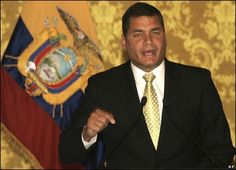 Rafael Vicente Correa Delgado is the President of the Republic of Ecuador. An economist educated in Ecuador, Belgium and the United States, he was elected President in late 2006 and took office in January 2007. To date, Correa's administration has succeeded in reducing the high levels of poverty and unemployment in Ecuador. **  Born: Apr 06, 1963 (age 51) · Guayaquil, Ecuador