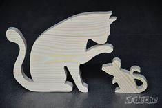 Items similar to Wooden Cat on Etsy Woodworking Box, Woodworking Projects, Wall Clock Sticker, Cat Template, Animal Templates, Dancing Drawings, Wood Projects That Sell, Cement Art, Scroll Saw Patterns Free