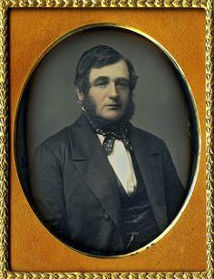 Unknown photographer. 'Untitled [Unidentified man]' 1850s Quarter plate Daguerreotype