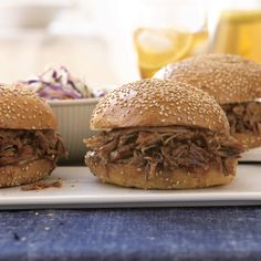 Slow-Cooked Pulled Pork Sandwiches