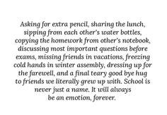 Farewell Quotes For Friends, Best Friend Quotes, Teenager Quotes, Teen Quotes, School Days Quotes, Senior Year Quotes, Goodbye Quotes, Graduation Quotes, Memories Quotes