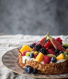 Funny Cake, Breakfast Recipes, Breakfast Ideas, Acai Bowl, Cheese, Bread, Healthy Recipes, Foodies, Dairy