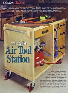 #1658 Mobile Air Tool Station - Workshop Solutions Plans, Tips and Tricks