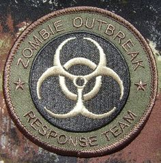 Zombie Hunter Outbreak Response Team Biohazard Army Milspec Forest Velcro Patch | eBay