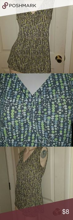 Oh Baby by MotherhoodPolka dot top Brownish/gray Polka dot top with tie back. Material not listed on tag Oh Baby by Motherhood Tops