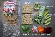 All the sammy essentials right here! Pile it high and enjoy your next lunch break. The ULTIMATE veggie sandwich.