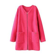 Loose Zippered Rose Woolen Coat,@pariscoming #Pariscoming #Paris #fallfashion #fallstyle #falltrends #fallingfor #fall #winterfashion #winterstyle #wintertrends #winterfor #winter #cardi #clothing #inspirational #fashionable #ontrend #stylist #Styling #StreetStyleSeason #streetstyle #fashionblog #fashiondiaries #fashiondiary #WearIt #WhatYouWear.If you like,follow me and find it on our online store.