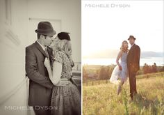 A 1940s Inspired Engagement Session