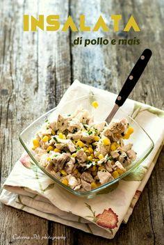 insalata di pollo e mais, ricetta veloce fresca e light