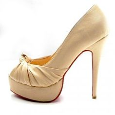 Cheap Christian Louboutin Greissimo Knot 130 Suede Peep-Toe Pumps Nude Sale : Christian Louboutin$194.02