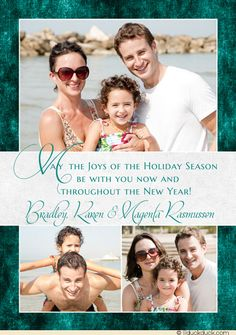 holiday joys photo card familys style new year verse