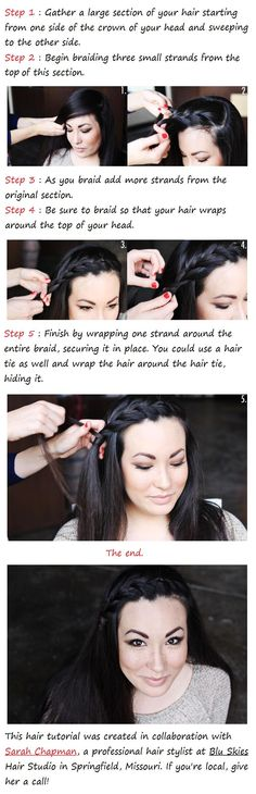 DIY A Side Braid Hairstyle DIY Fashion Tips | Great style examples below too!