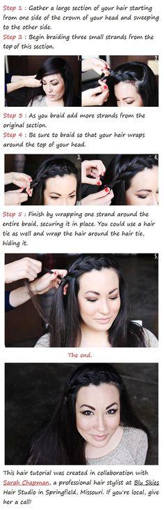 DIY A Side Braid Hairstyle DIY Fashion Tips | DIY Fashion Projects Christmas