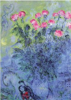 Roses by Marc Chagall