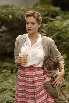 "Angelina Jolie in costume for ""The Good Shepherd"" (2006). Film era: mid-late 1940s. Via Film-Szenenbild"