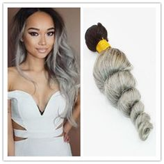 2016 New Brazilian Loose Wave Ombre Silver Grey Hair Weave 1b Gray Two Tone Brazilian Virgin Human Hair Extensions 300g/Bundle Free Shipp Hair Extensions Weave Weave Hair Extensions From Africagirl, $0.81| Dhgate.Com