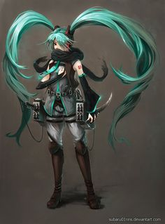 Hatsune miku and attack on titan crossover. Awesomeness