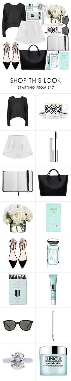 """work in fashion"" by sophie-martina ❤ liked on Polyvore featuring T By Alexander Wang, B by Brandie, Finders Keepers, Clinique, Smythson, Diane James, Sirocco, Zara, By Terry and Kelly Wearstler"