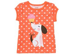 This T-shirt combines our three favorite things: polka dots, cupcakes and puppies! Carters.com