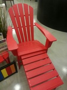 POLYWOOD Adirondack with hideaway ottoman. Available in 8 colors. www.BayBreezePatio.com