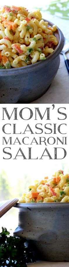 Summer time fun is no fun at all without Mom's Classic Macaroni Salad – creamy and rich in flavour with bell peppers and a little cheddar cheese; it's the fond memories you'll make which helps to round out this old-fashioned…