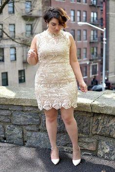 Yes, I do: 7 looks chic e descomplicados para casar no civil Wedding Dresses Plus Size, Plus Size Wedding, Plus Size Dresses, Plus Size Outfits, Short Dresses, Tunic Dresses, Fitted Dresses, Formal Dresses, Xl Mode