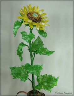 WOW! What a gorgeous French Beaded Sunflower! Svetlana Sapegina does amazing stuff!