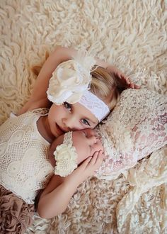 Vintage ivory and white satin and lace headband. by ClairebowBaby, $17.00