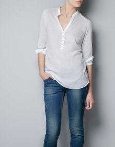 VOILE SHIRT - Shirts - TRF - ZARA United States