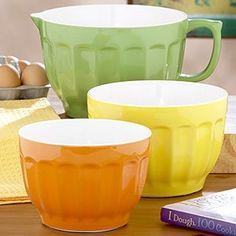 Three Piece Melamine Mixing Bowl Set ...Citrus Trio from World Market. I would like.