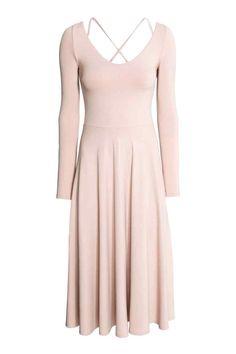 Sukienka do połowy łydki: Sukienka z grubego dżerseju z z długim rękawem…