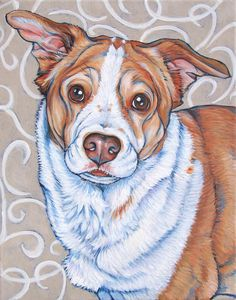 11 x 14 Custom Pet Portrait Painting in by bethanysalisbury, $170.00
