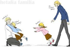Hetalia ~ England, America, Canada and France << no Canada someone save him before he gets hurt