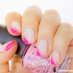 Pink french manicure || 10 Best Nail Art Designs of 2013
