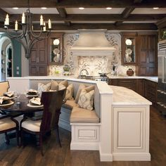 Kitchen...added counter space plus built in eating. Love it.