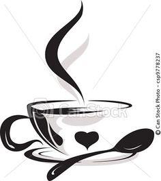 coffee mug silhouettes - Google Search:
