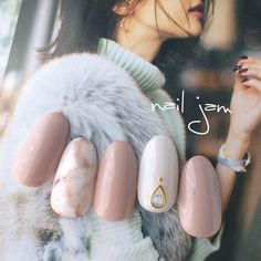 Nude Nail art tips and ideas - Great Nude Nails - Nageldesign Winter Nails, Spring Nails, Short Nails, Long Nails, Hair And Nails, My Nails, Crazy Nails, Beauty And More, Nails 2017