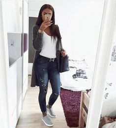 New Womens Fashion Casual Spring Classy Chic Jeans Ideas Outfit Jeans, Winter Outfits, Casual Outfits, Cute Outfits, Winter Clothes, Look Fashion, Fashion Outfits, Womens Fashion, Fashion Clothes