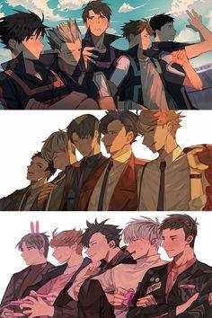 Anime Boys, Manga Anime, Manga Haikyuu, Comic Anime, Haikyuu Funny, Haikyuu Fanart, Fanarts Anime, Cute Anime Guys, Anime Characters