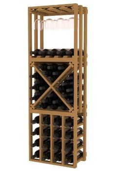 203 AmazonSmile: Wine Racks America® Kitchen Rack in Ponderosa Pine. 3 Piece Lattice Wine Rack with 13 Gorgeous Stains to Choose From!: Free Standing Wine Racks: Kitchen & Dining
