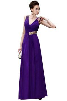Kingmalls Womans A-line V-neck Chiffon Silk-like « Clothing Impulse