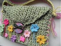 Detské tašky - detská zelená taštička - 4044190_