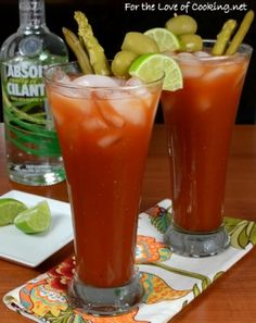 Bloddy Mary ~ http://www.fortheloveofcooking.net/2013/12/bloody-mary.html