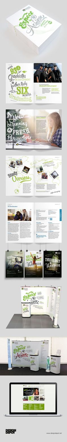 Newman University prospectus, artwork, Birmingham, university, identity, branding, design depot, prospectus, education, graphics, Northamptonshire #DesignDepot
